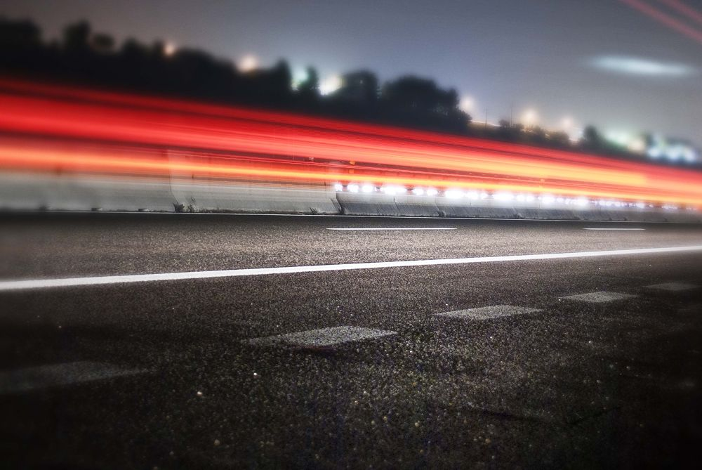 Light on the road by M.Vizzani
