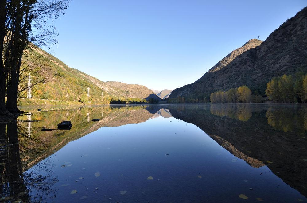 Pyrenees Mirror Lake by Baruch Menahem