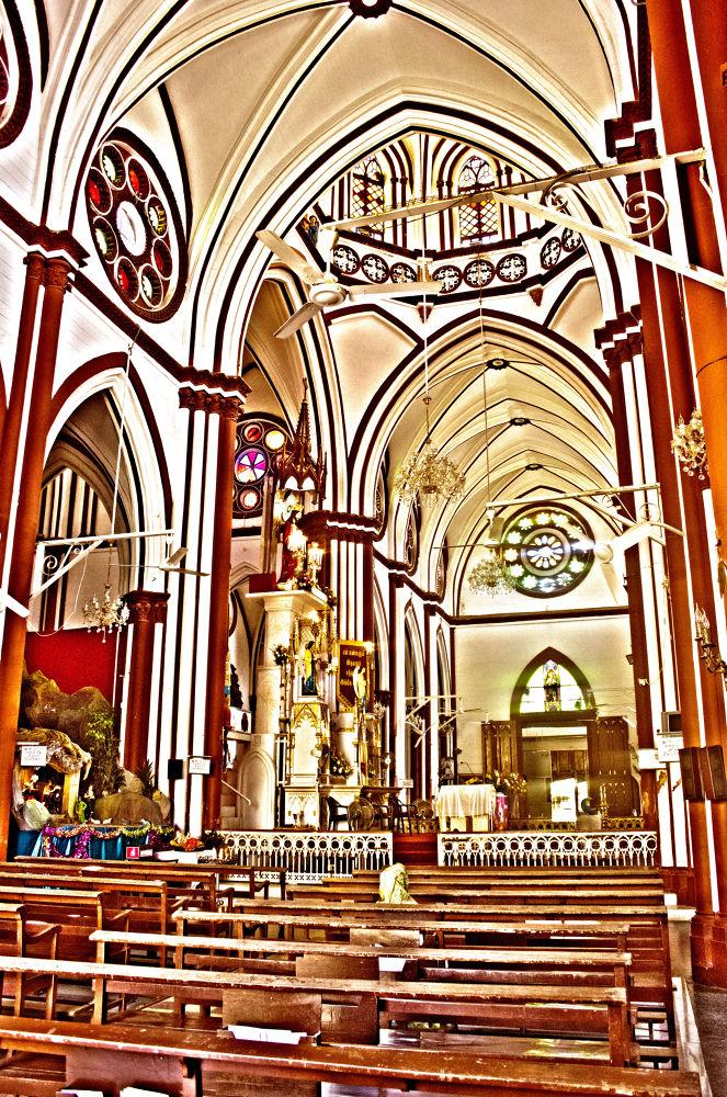 CHURCH ARCHITECTURE PONDICHERRY by Shivas Sivakumar