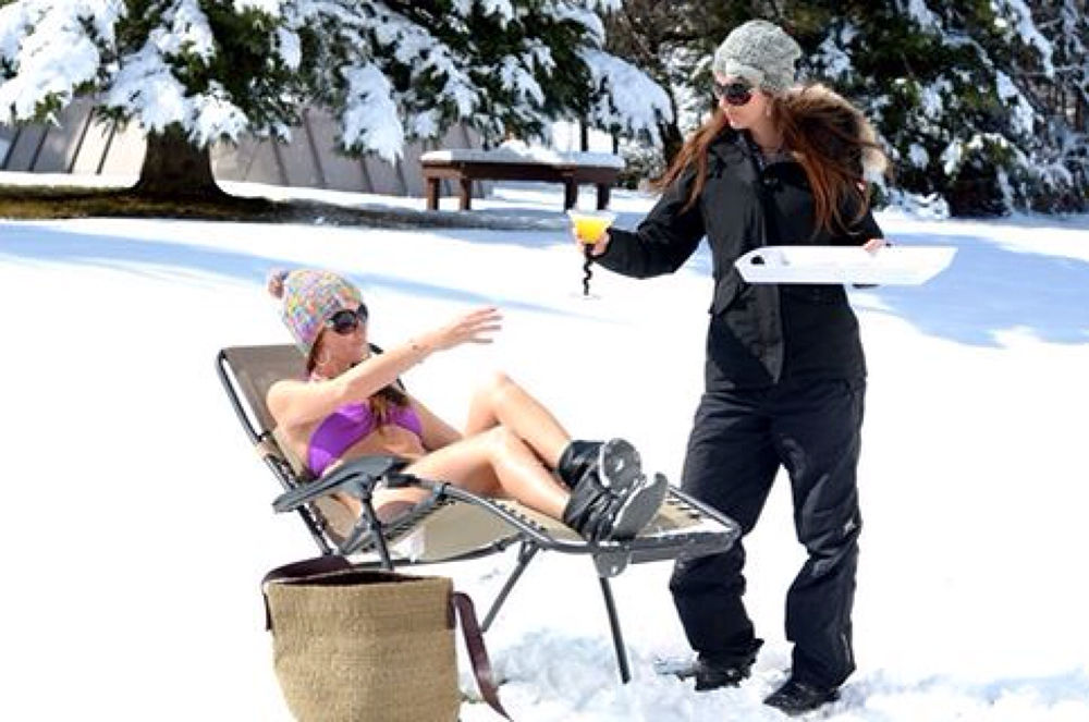 FIRST DAY OF SPRING-- I think NOT! I'll have a drink and some sunshine please!!! by photoqueen