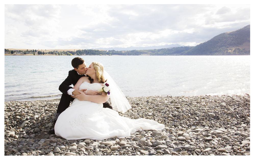 Bride and Groom - Tekapo, New Zealand by Phoenix Nicolson