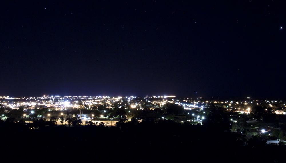 Night lights - Kalgoorlie, WA by Phoenix Nicolson