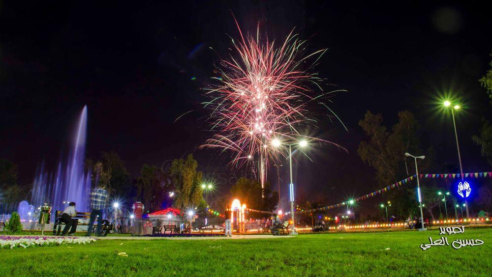 In Baghdad International Festival of Flowers by Husaain AL Alie