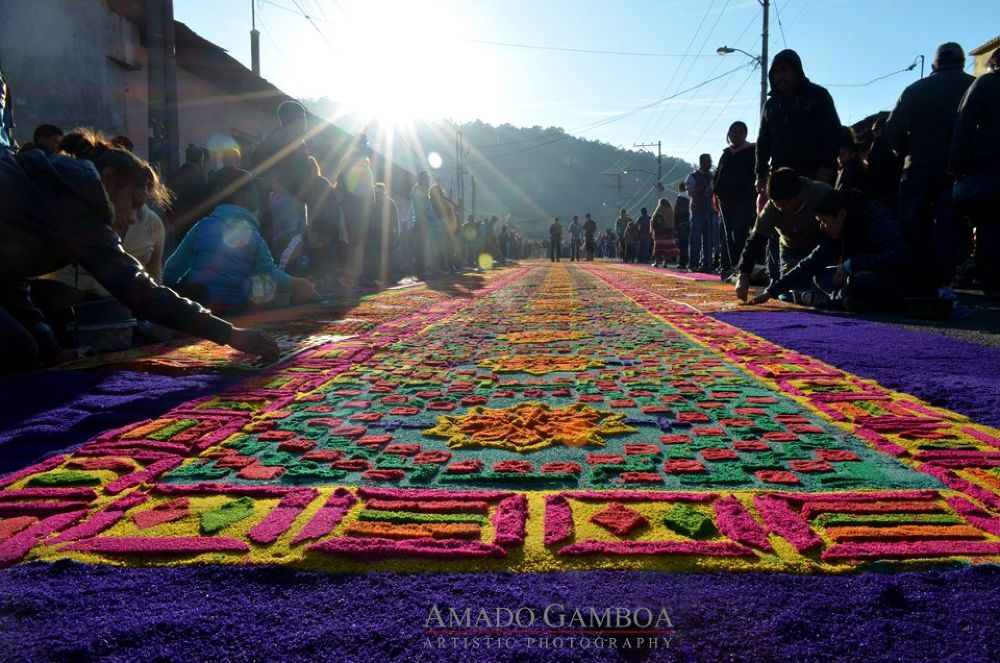 Holy week carpet by Danny Gamboa