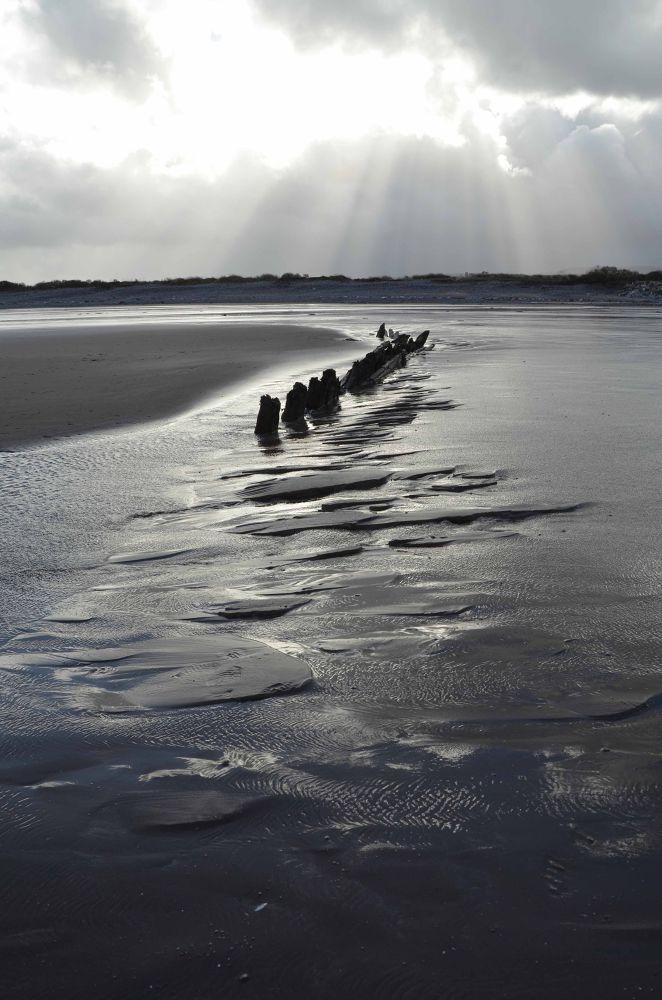 Minehead Beach by Pamela Harridine