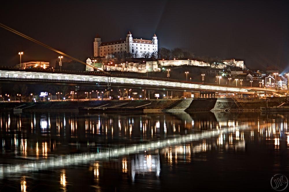 Bratislava castle look from sad Janka Krala by Jozef Kozlok