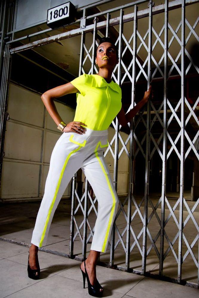 Futuristic neon vintage fashion by TimothyLim