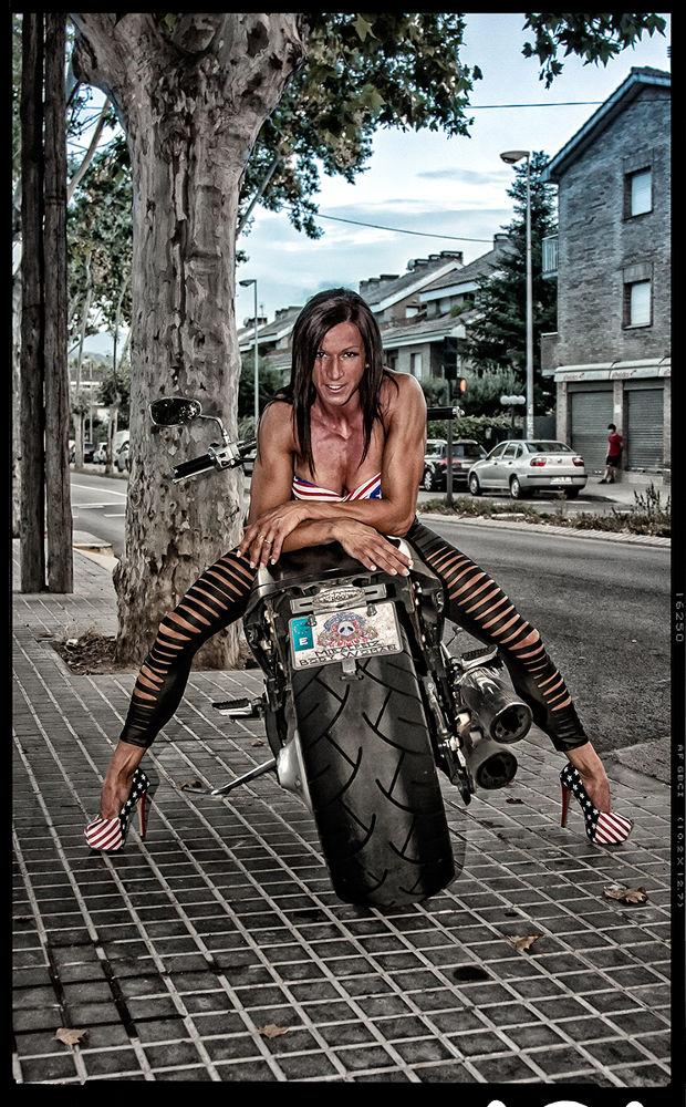 Woman Motorcycle by Erwan Grey