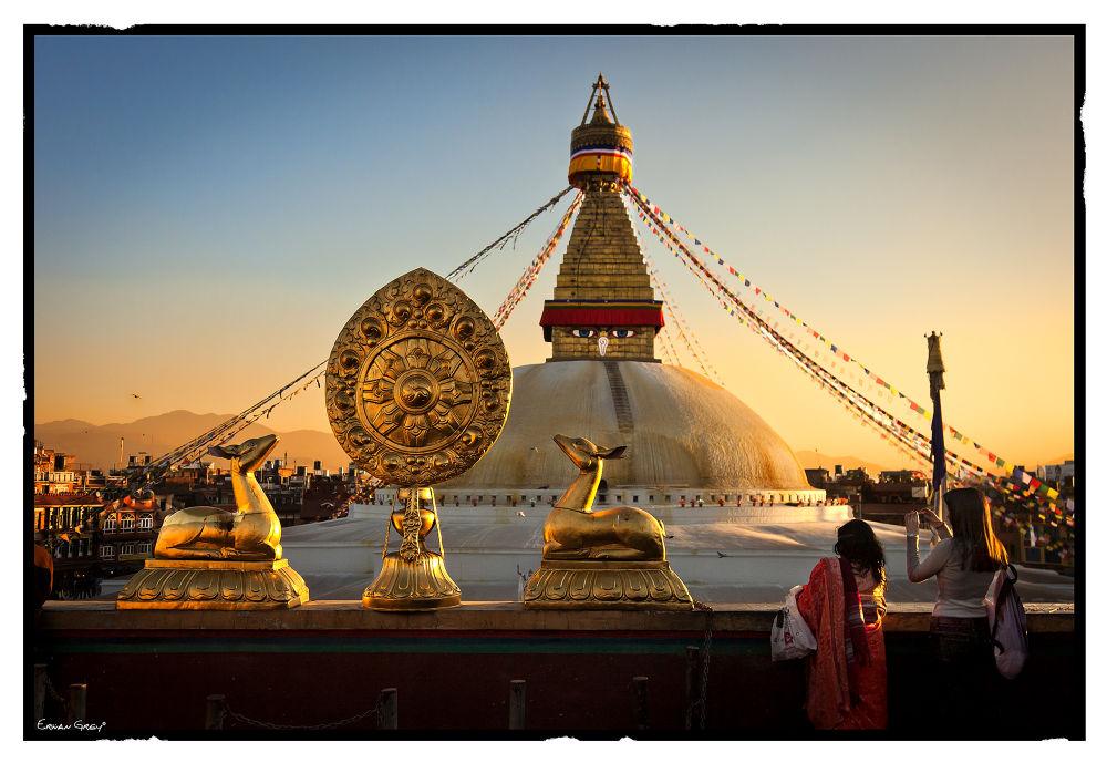 Bodhnath Stupa by Erwan Grey