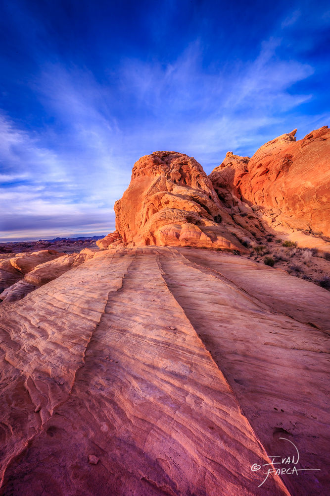 Trails on rock by Ivan Farca
