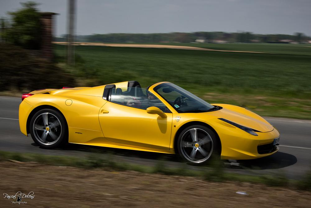 Photo in Vehicle #cars #voiture #ferrari #f458 #pascaldelens #yellow