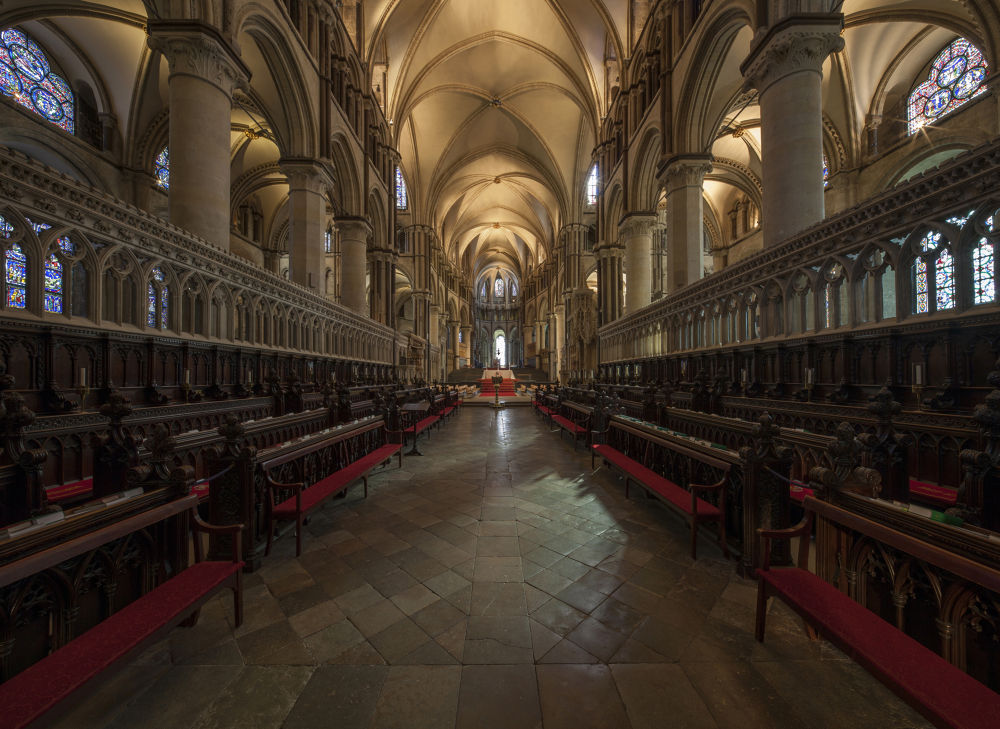Canterbury Cathedral choir stalls by Patrick Clarke
