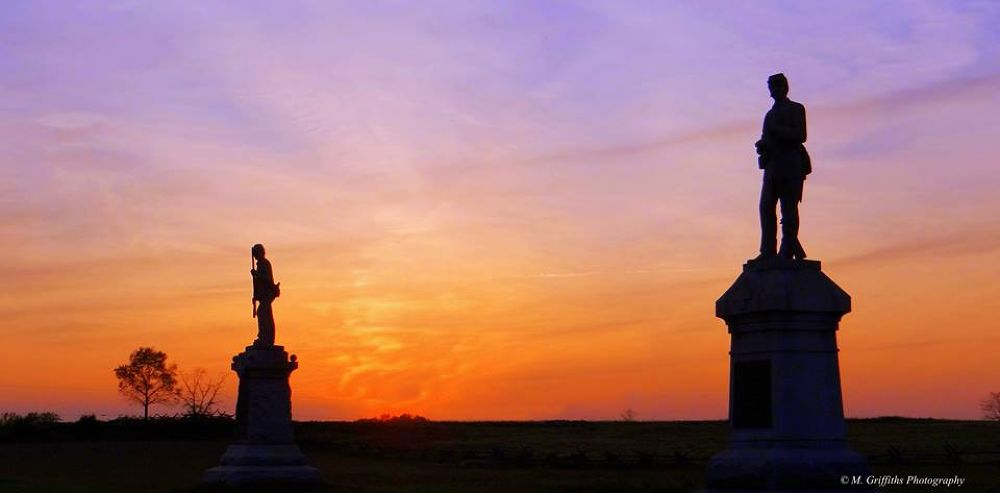 Stone Sentinels at Antietam National Military Park by Mike Griffiths