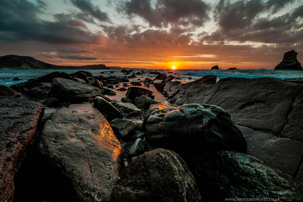 Jurassic Sunrise. Mupe Bay,Jurassic Coast,Dorset ,England.UK by Sam Coatsworth