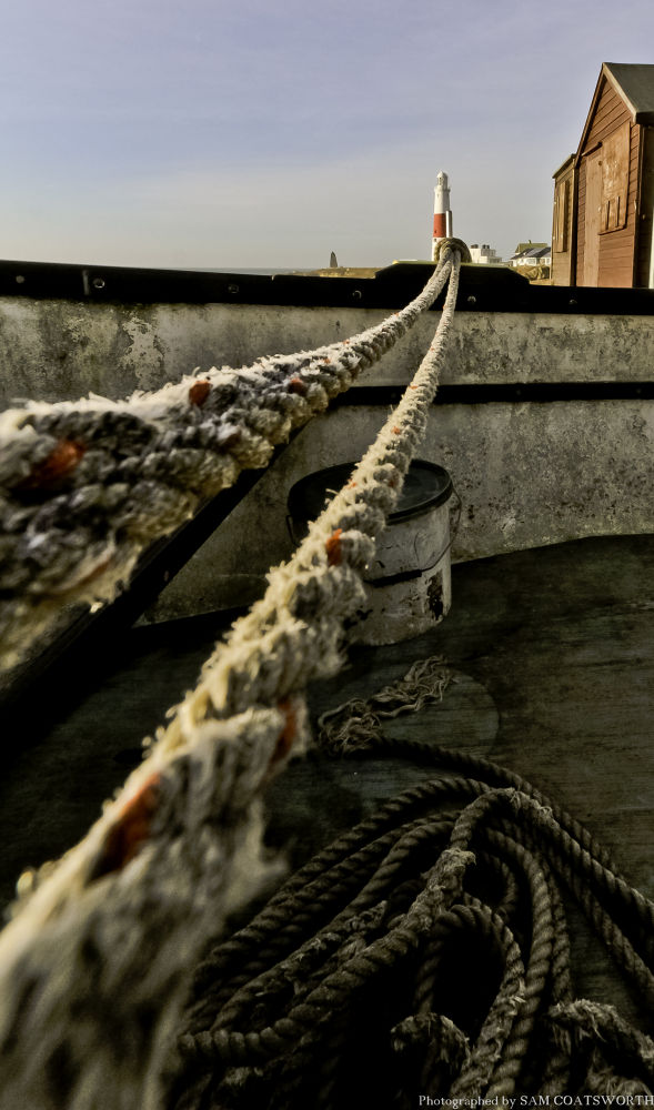 Portland Bill road rope to infinity by Sam Coatsworth