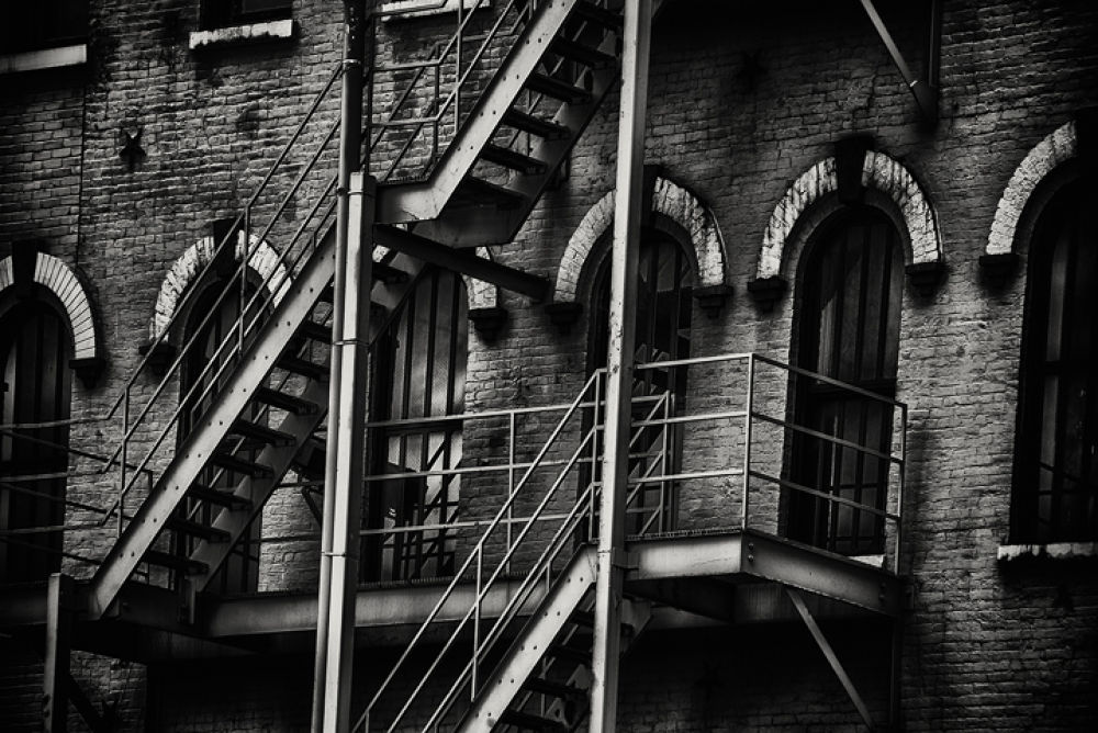 Cleveland Ohio old building on Lake Erie by Bill Klingbeil