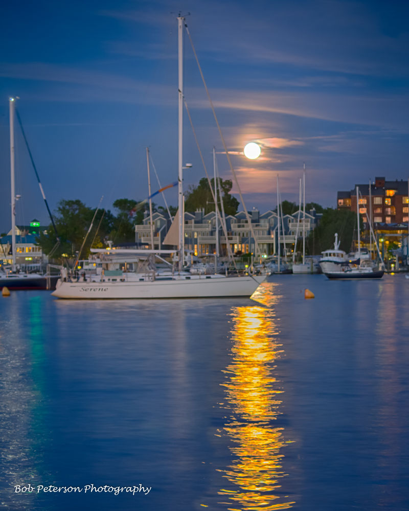 Super Moon in Annapolis by Bob Peterson Photography