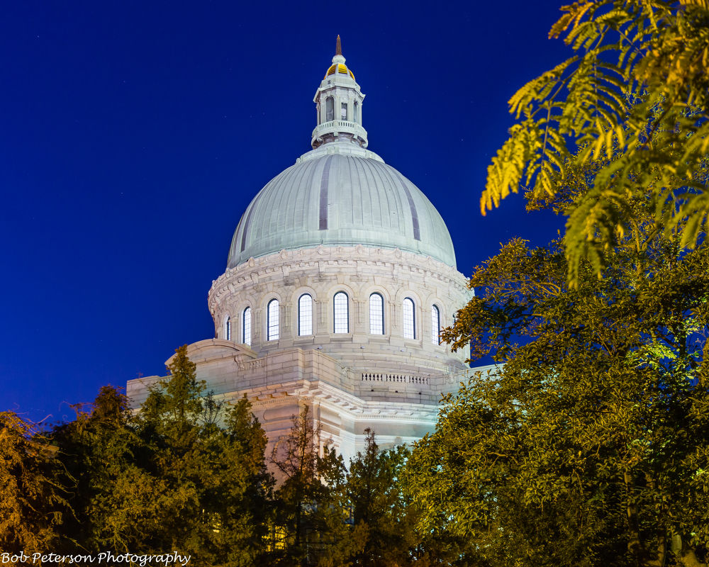 Naval Academy Chapel at Night by Bob Peterson Photography