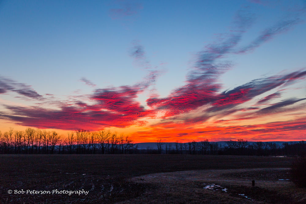 Fire in the Sky by Bob Peterson Photography