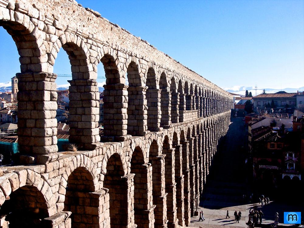 Segovia Aqueduct by Pablo Muniz