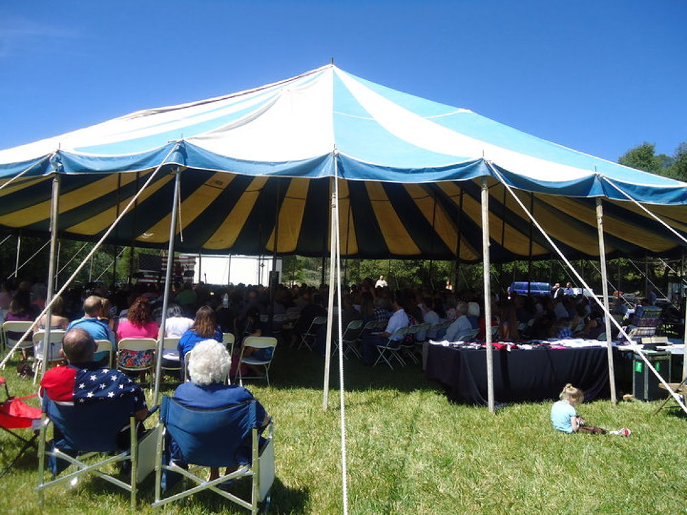 Church Under the Tent 2010 by Michelle Kidwellwritingforhisglory