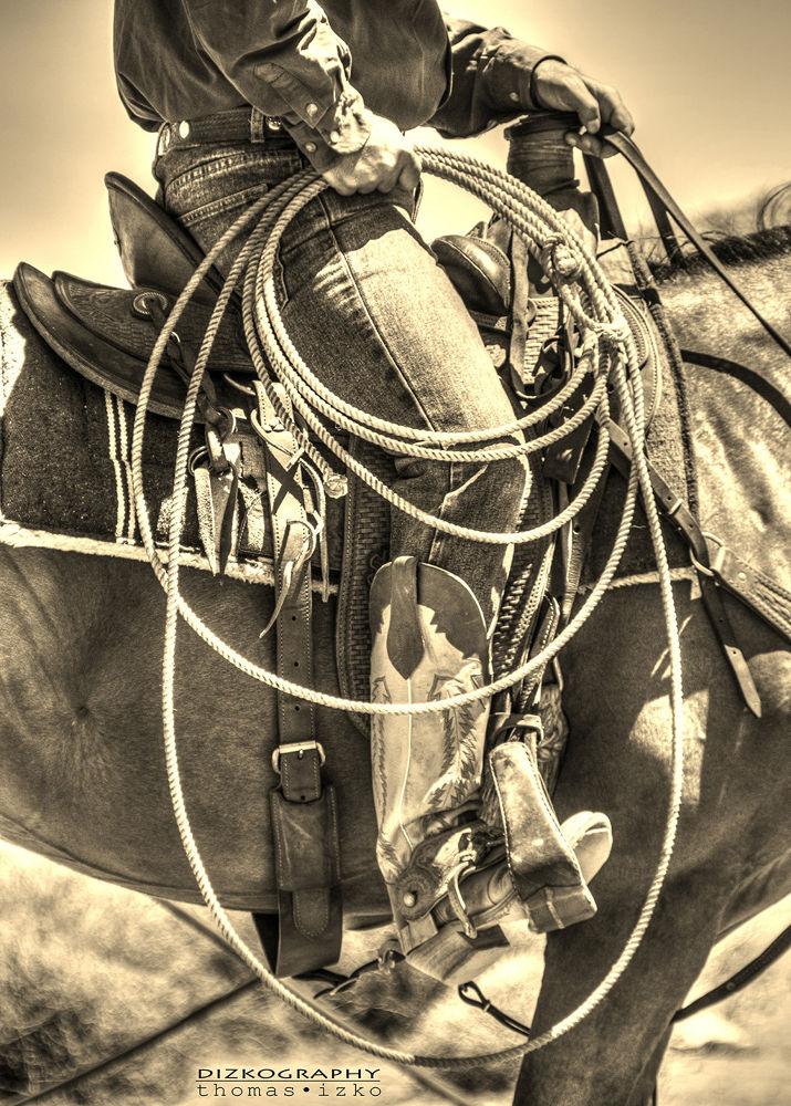 -vintage western art- by Thomas Izko