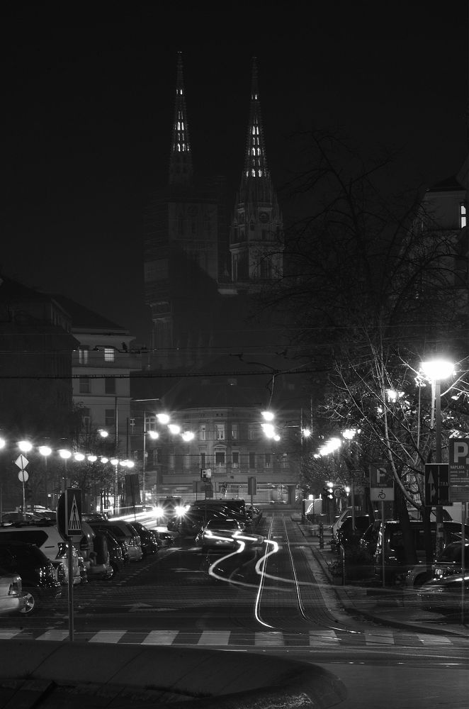 zagreb by night by Antonio Kaic