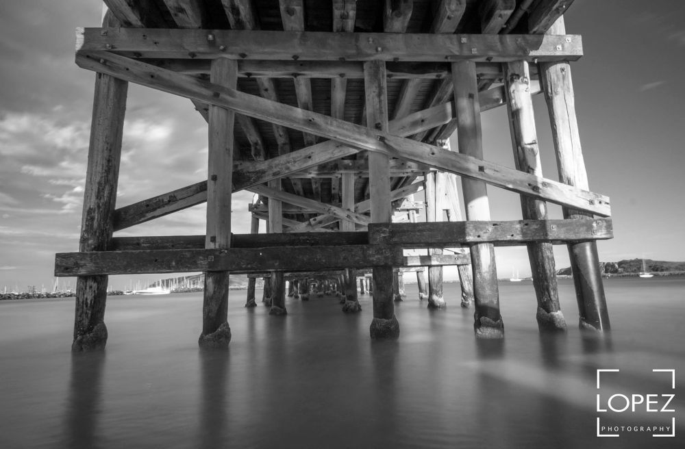 Under the jetty by Jose Lopez