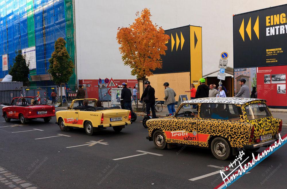 Trabants driving in Berlin, Germany by Michael