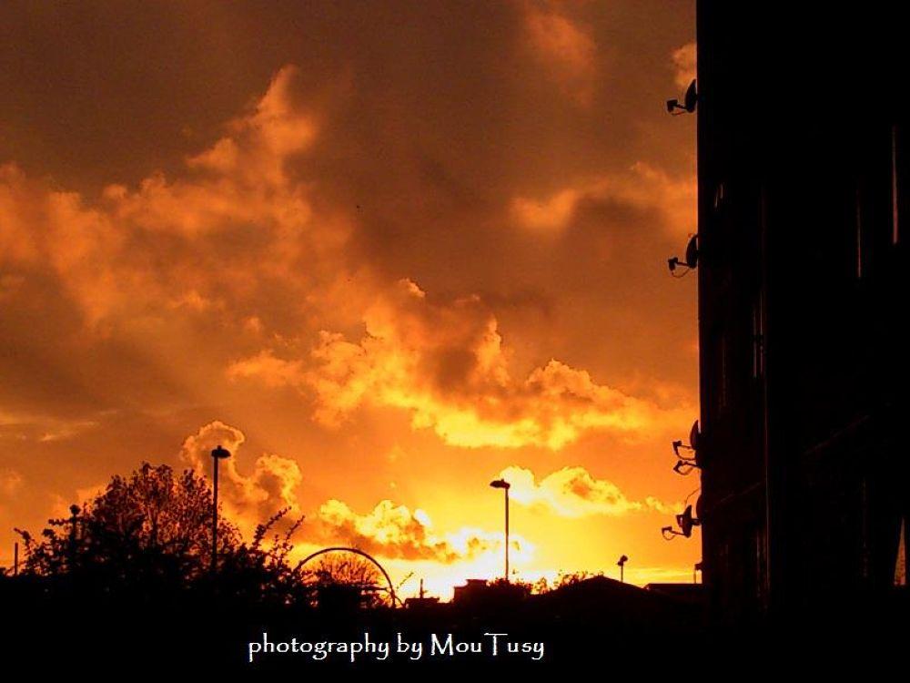 Burning sky by Moutusy Shekh