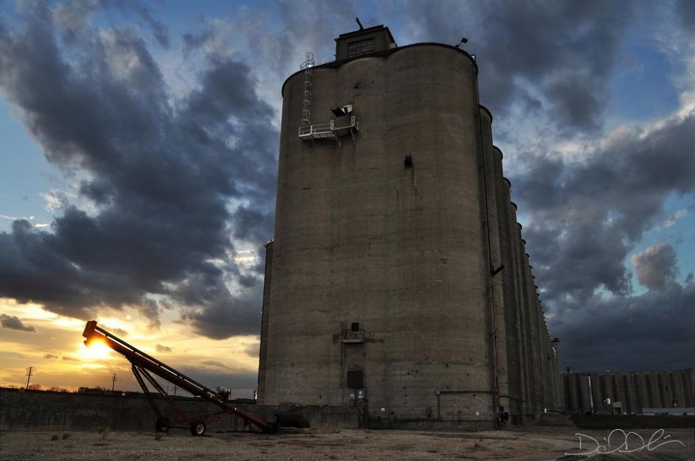 Sunset at the Grain Elevator by Daniel Dubois