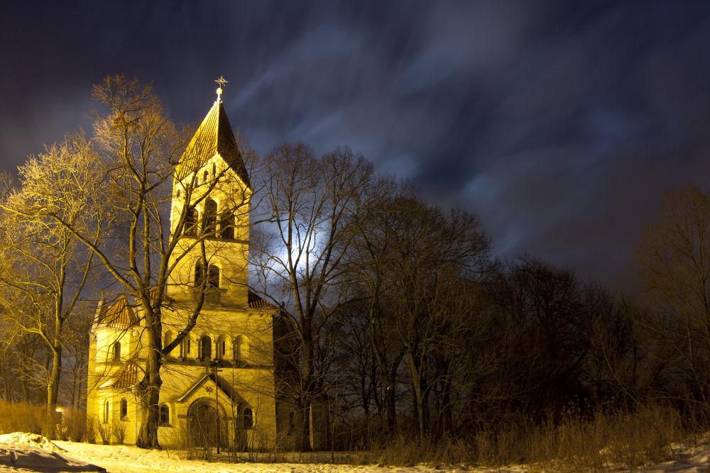Church in small village Wiry by TomPiotrowski