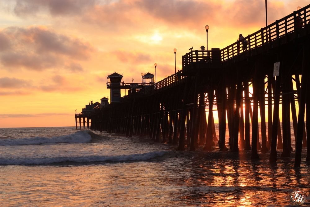 Oceanside pier by Deborah Divis