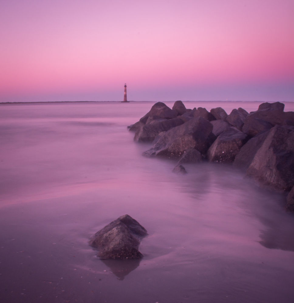 Lighthouse at Dusk by August411