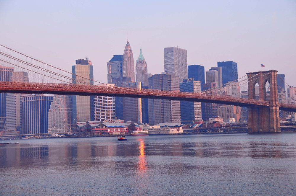 Sunrise on The Brooklyn Bridge by Newyorkexposure