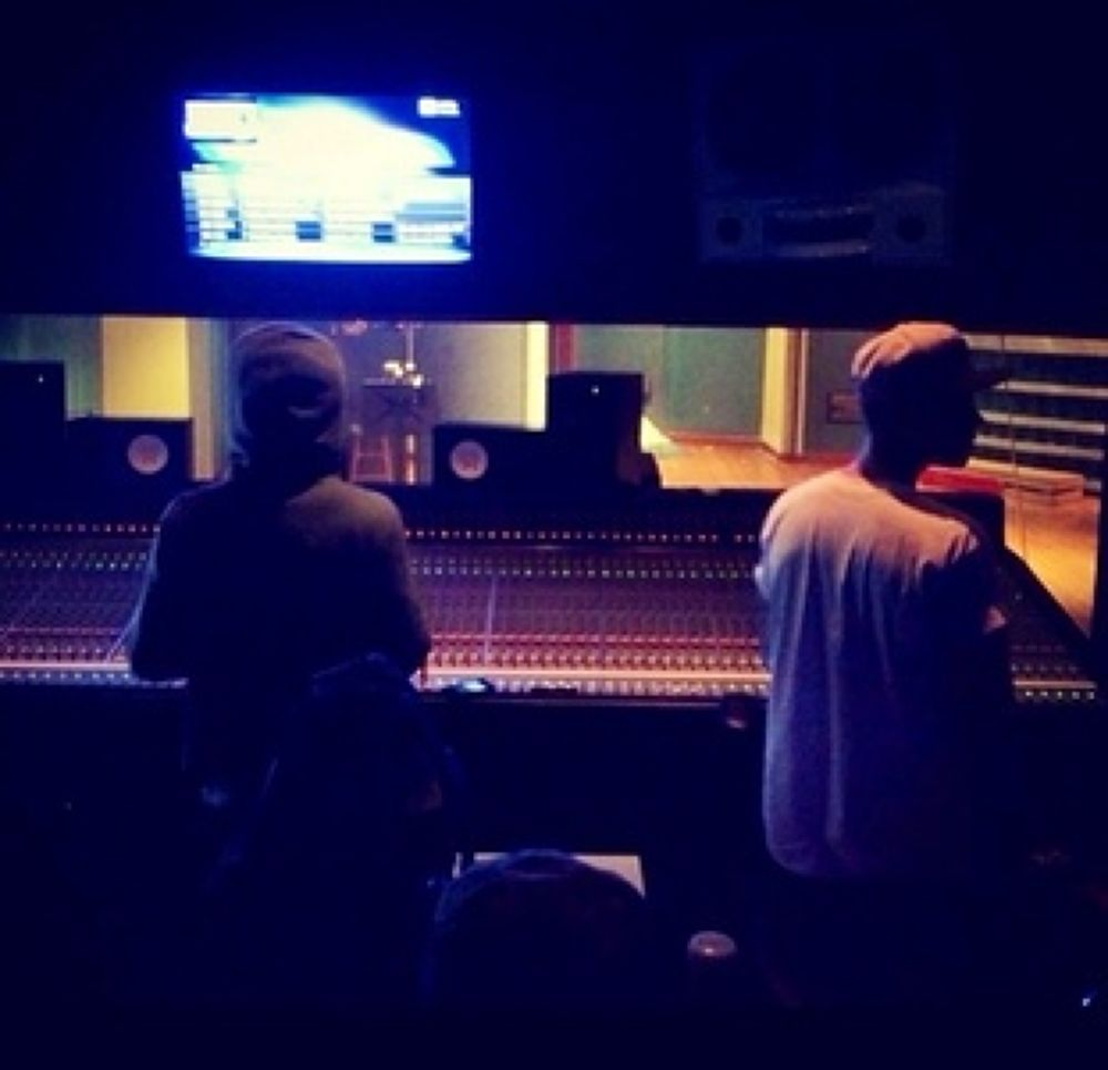 Me and Tunechi in the studio by Jay Bee