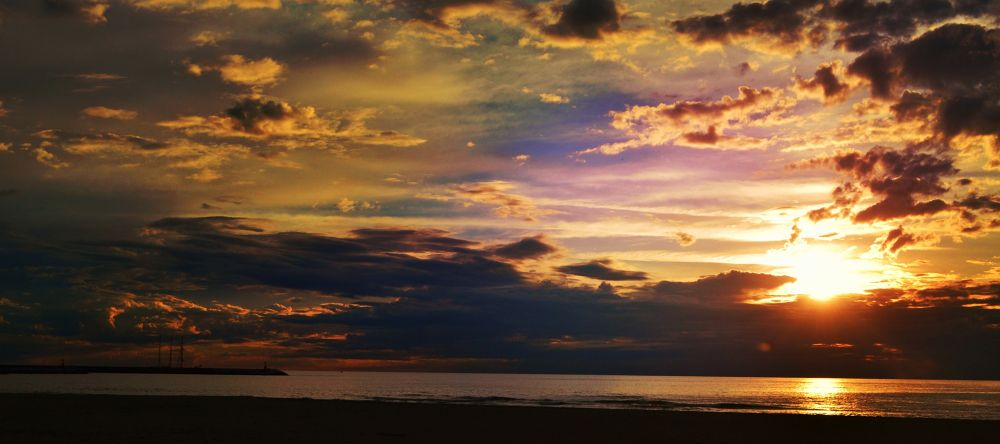 Photo in Landscape #sunset #magic #beautiful #sky #landscape #sea #love #sun #nature