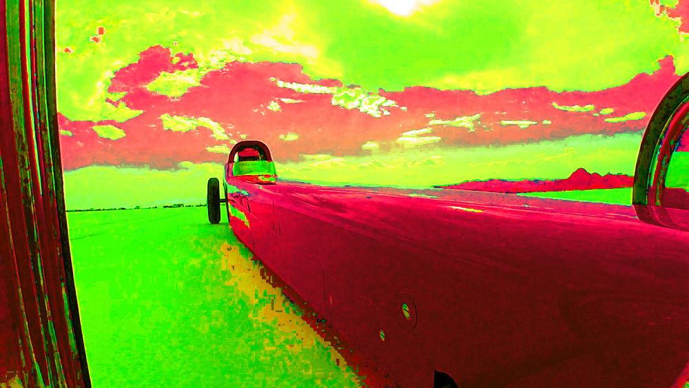Speeding in Technicolor, Bonneville 2012 by digipro