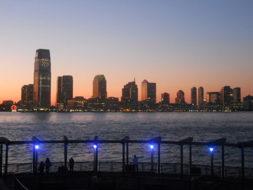 Sunset over Jersey City by mark12