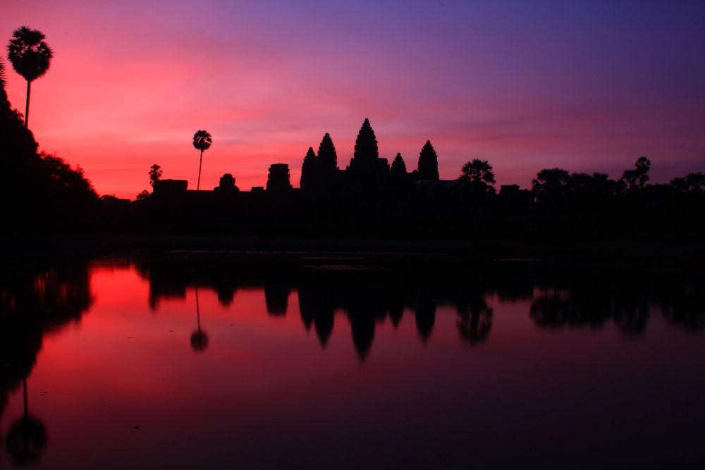Sunrise at Angkor Wat, Siem Reap, Cambodia by Piseth