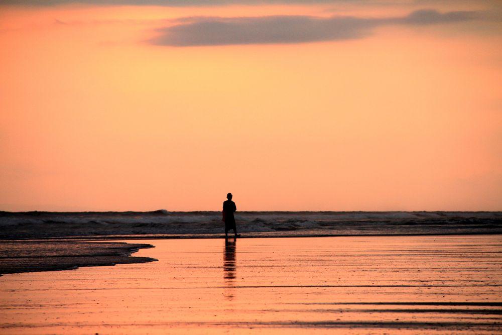 Photo in Random #sunset #lonely #fishermen