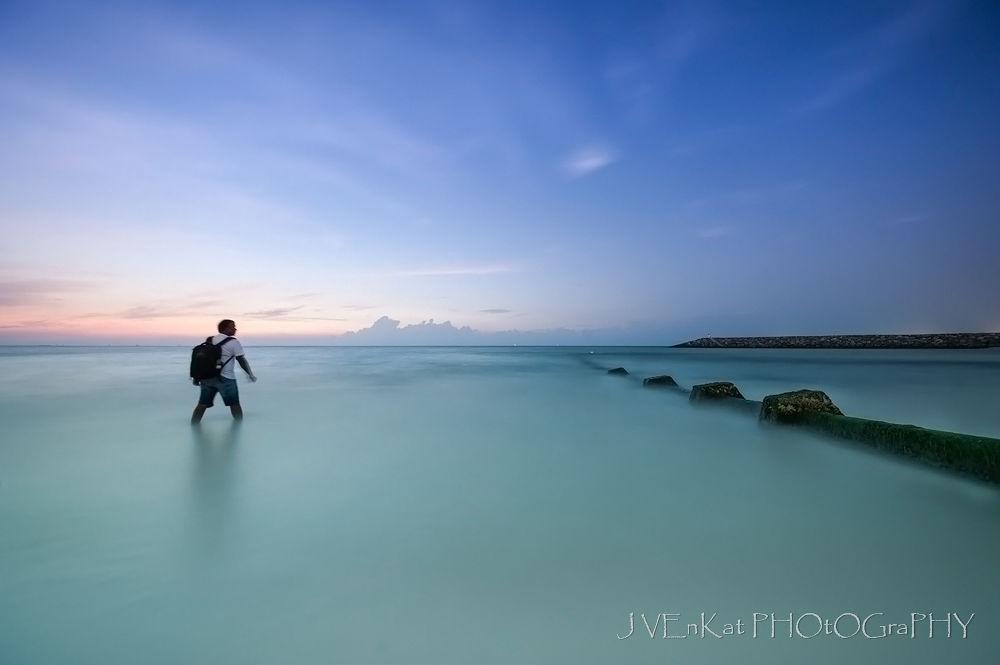 Walking Towards Dawn by jvenkatphotography