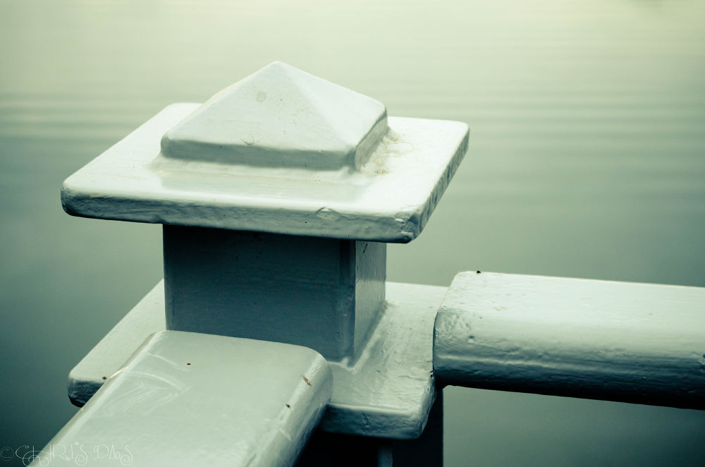 Photo in Random #water #lake #calm #railing