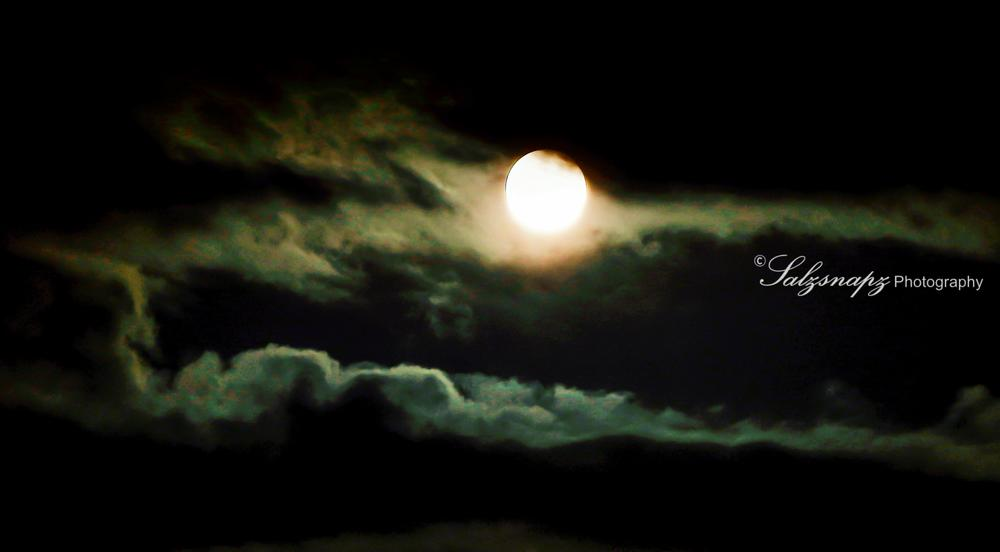 Moon Clouds  by Salzsnapz Photography