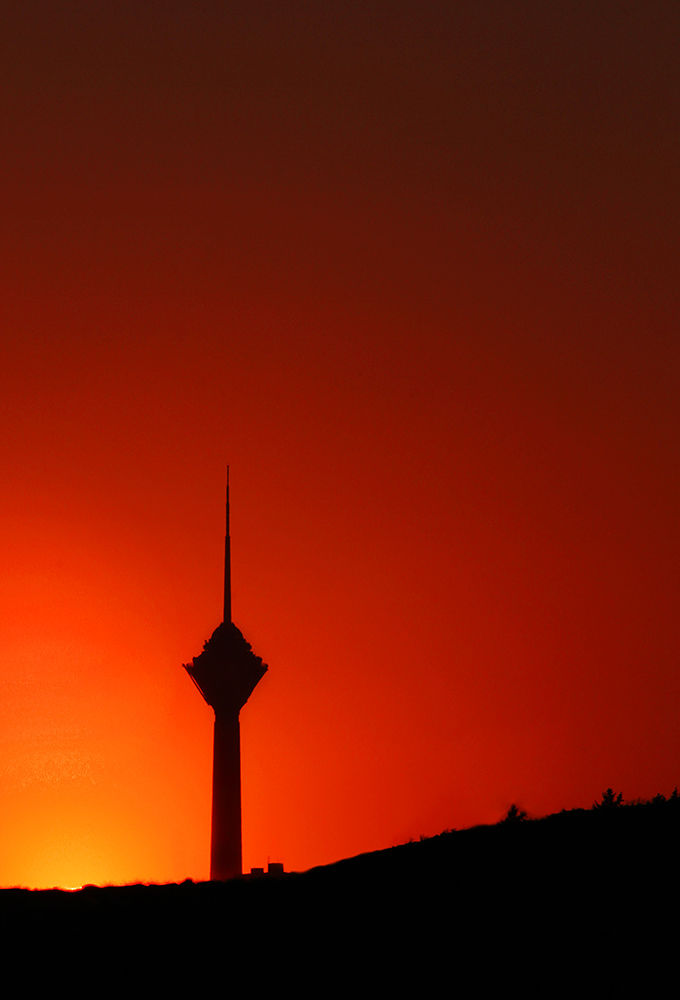 sunset of miladtower by alisina