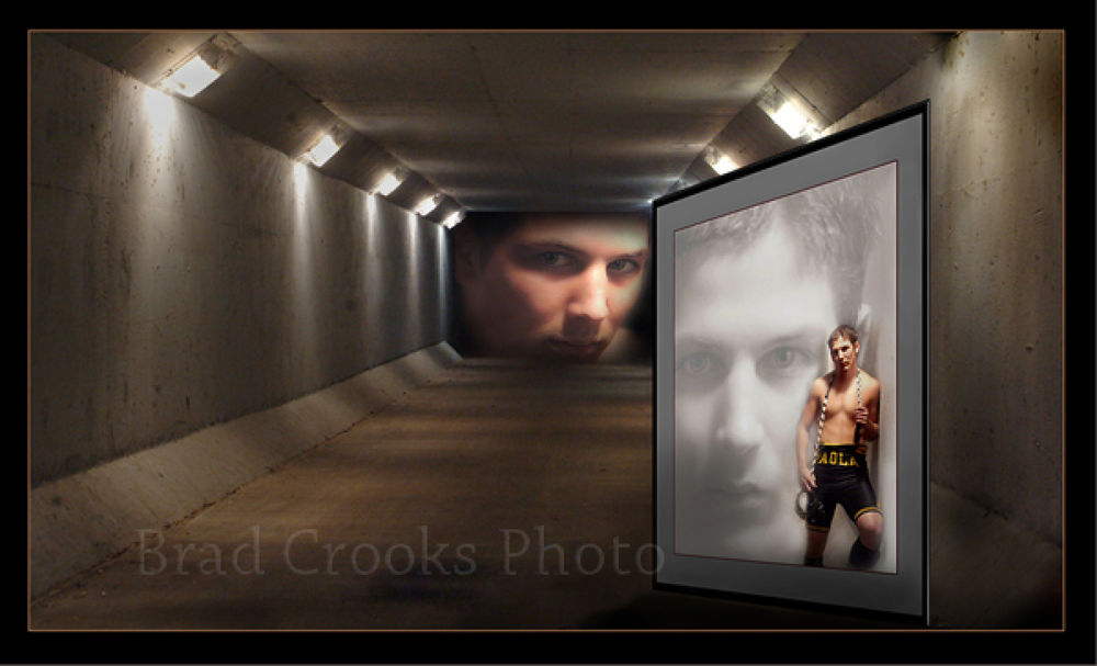 Wrestler-Tunnel Vision by Brad Crooks Photography
