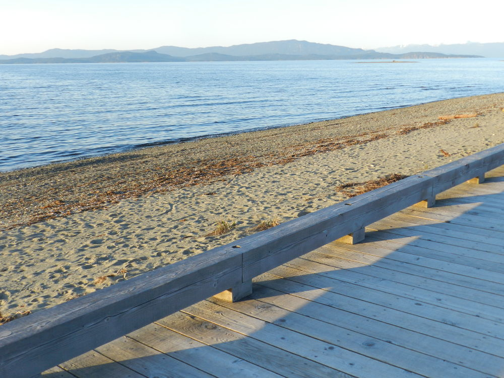 Parksville Beach Boardwalk by Camilla Pierce