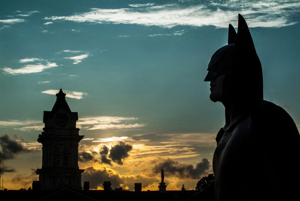 Batman Skyline-Matt Crabtree as Batman (Shot in Athens, OH) by The Portrait Dude (Wesley Smith)