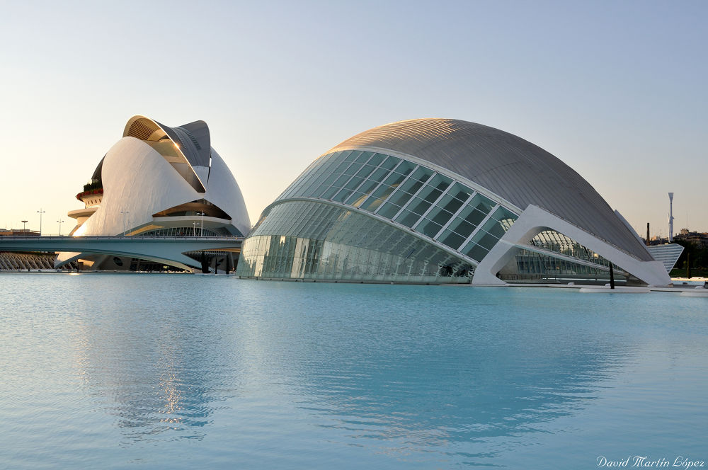 City of arts and Sciences at sunset by davidmartinlopez