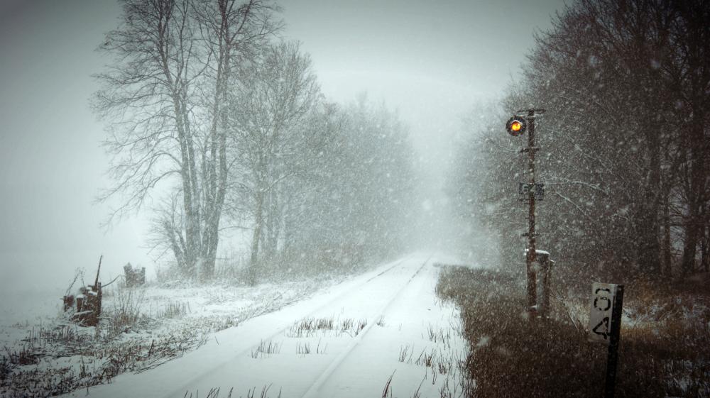 Winter railroad by Michelle Britt